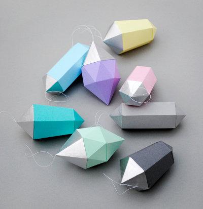 Как сделать из бумаги кристаллики 973