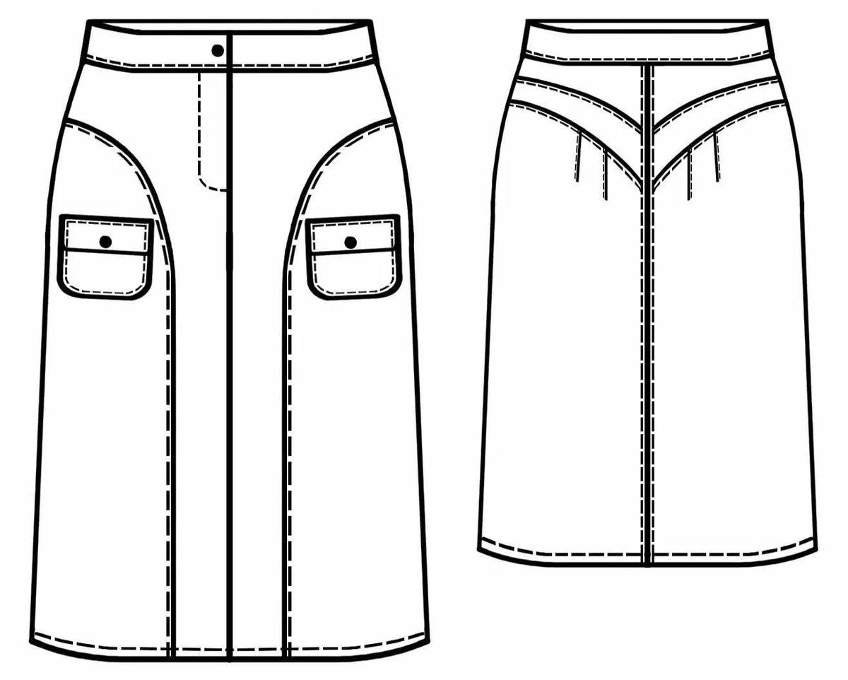 Как сшить юбку накладную 691