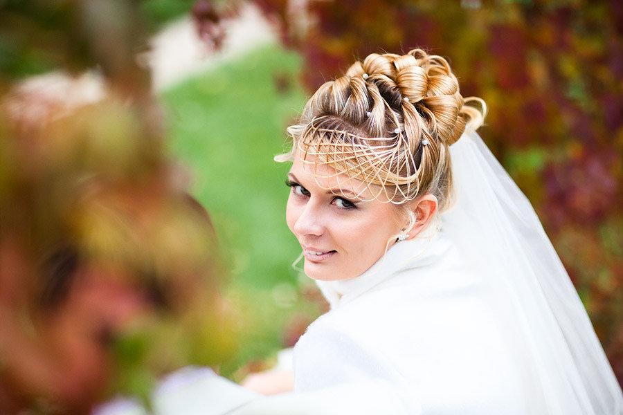 Необычная прическа а свадьбу