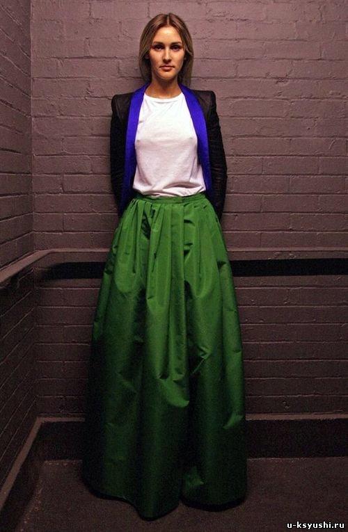 Как сшить длинную широкую юбку 84