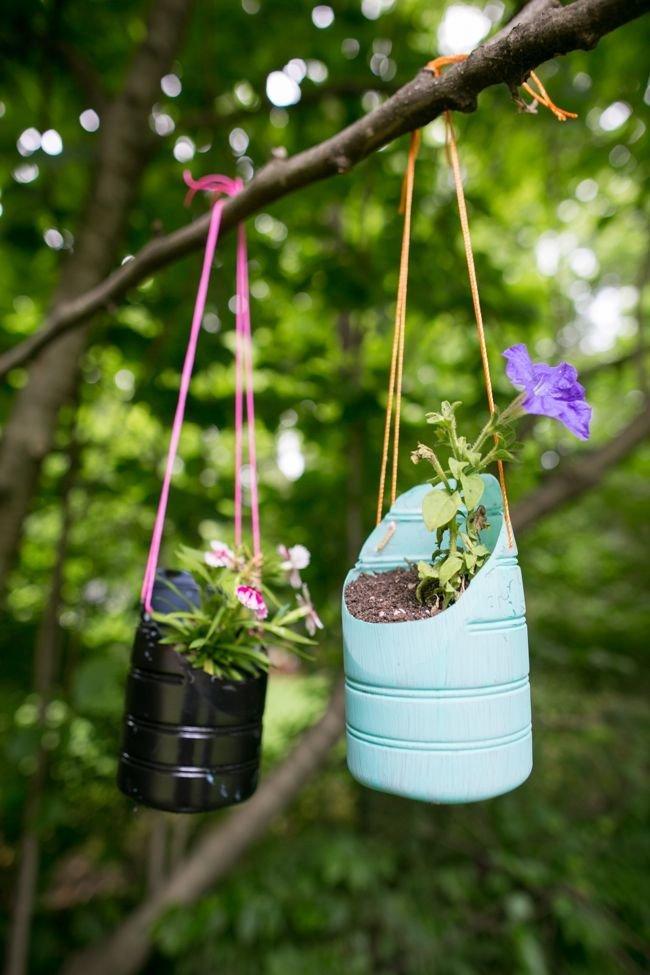 Пластиковые горшки для цветов своими руками фото 113