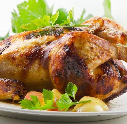 Курица с яблоками в духовке пошаговый рецепт с фото кусочками
