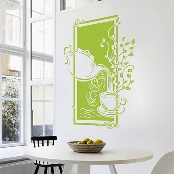 Трафареты для стен на кухне своими руками 301