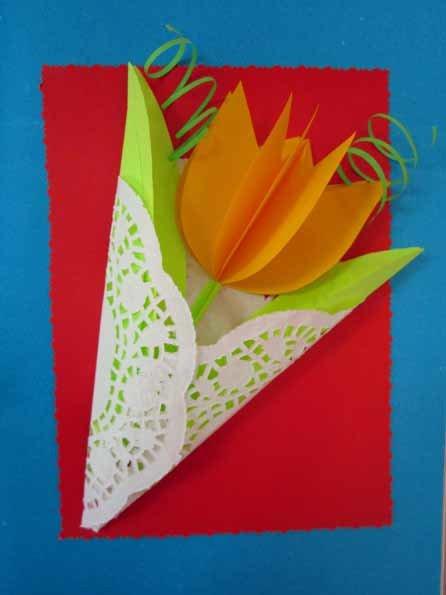 Поделки для мамы из бумаги и картона