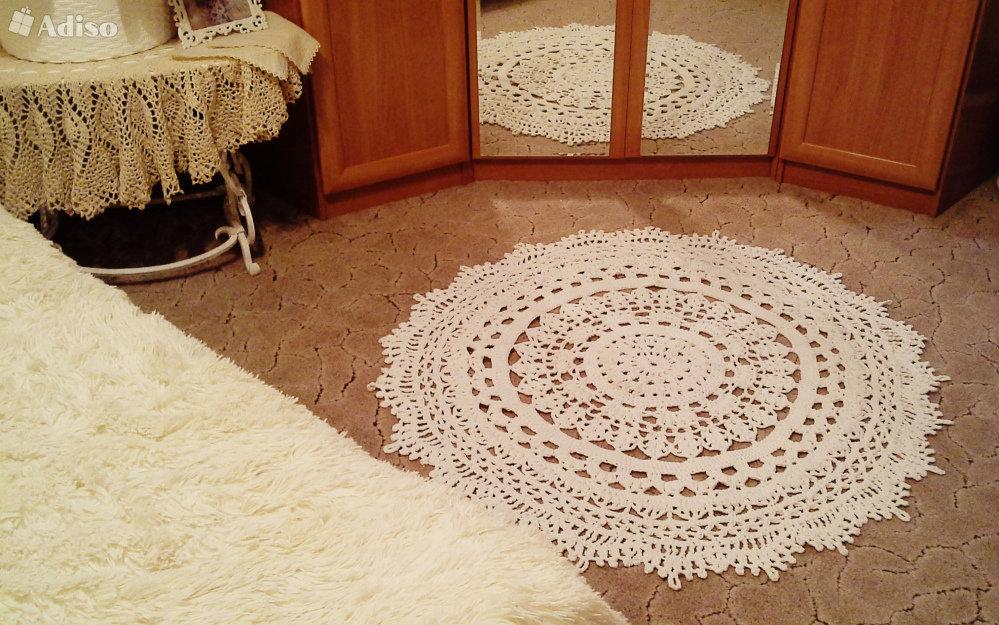 Вязаный ковёр своими руками 732