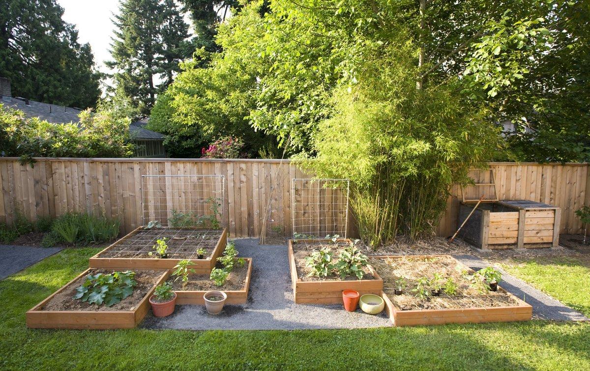 У огород на даче своими руками фото