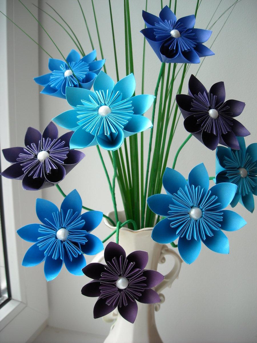 Цветы бумажные поделки 33