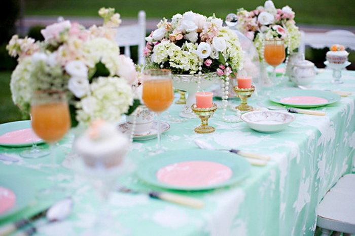 Декор столов на свадьбу своими руками 92