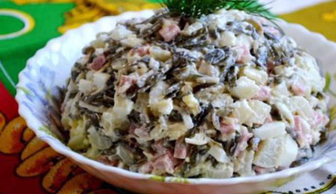 Вкусный салат с морской капустой рецепт очень вкусный