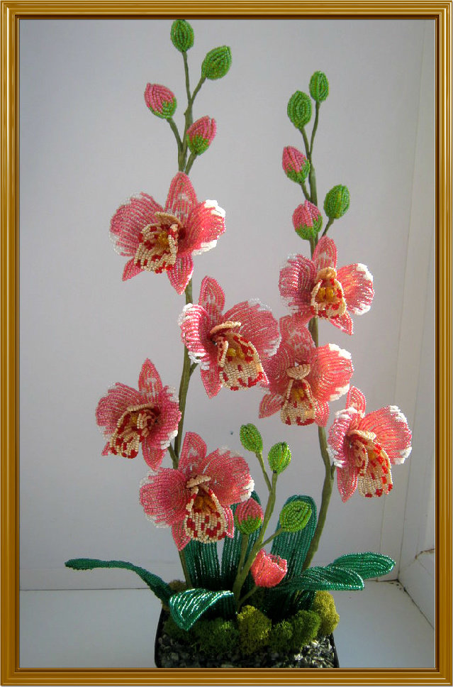 Уроки по бисероплетению цветов орхидей