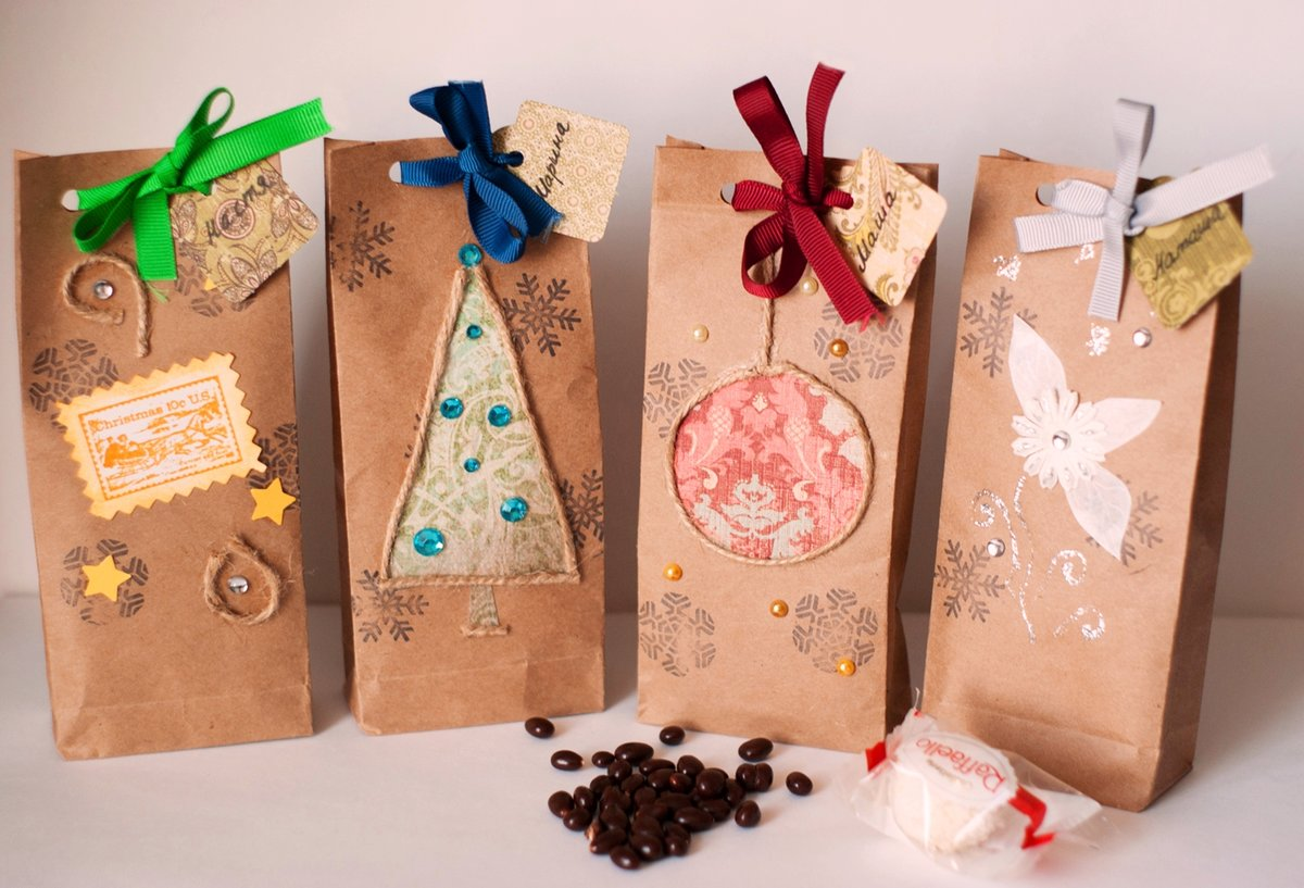 Как сделать пакетики для подарка своими руками