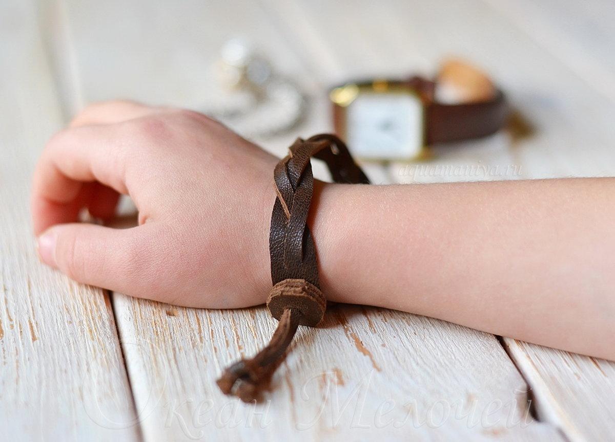 Кожаный браслет своими руками фото