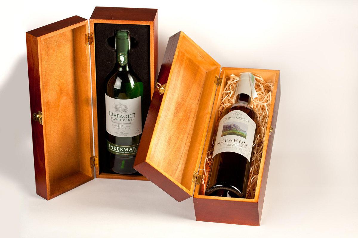 Вино в ящике подарок 68