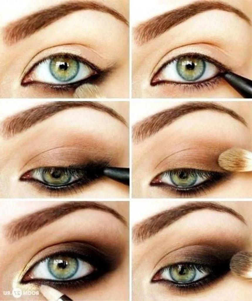 Повседневный макияж серо-голубых глаз