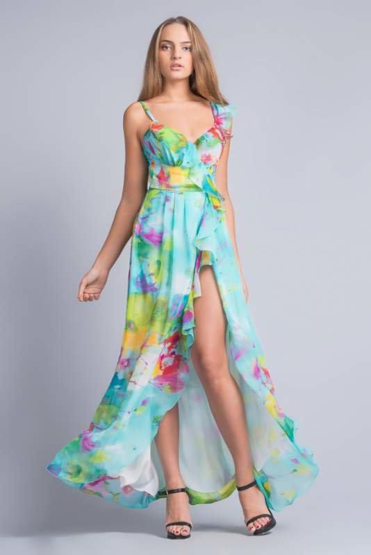 Длинное платье с запахом своими руками 74