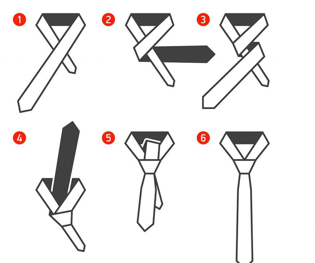 Завязать галстук из ленты своими руками 38