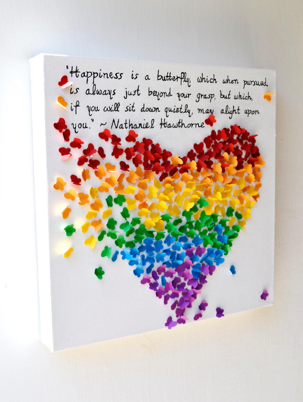 Объемные сердечки из бумаги на стену своими руками