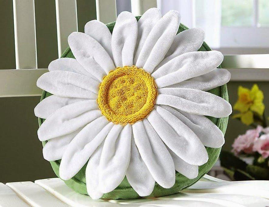 Цветы из ткани для подушек своими руками фото 97