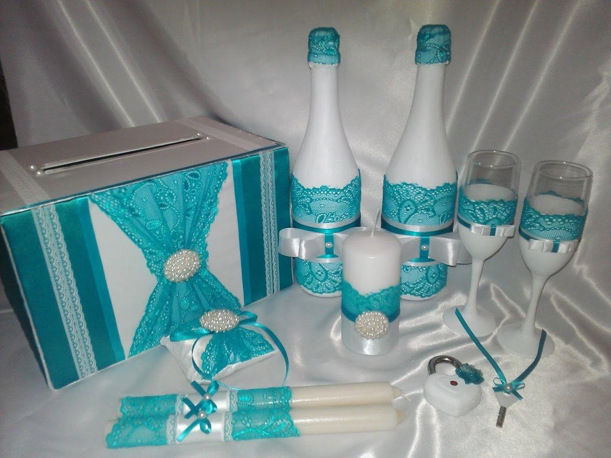 Свечи на свадьбу своими руками бирюзовые 41