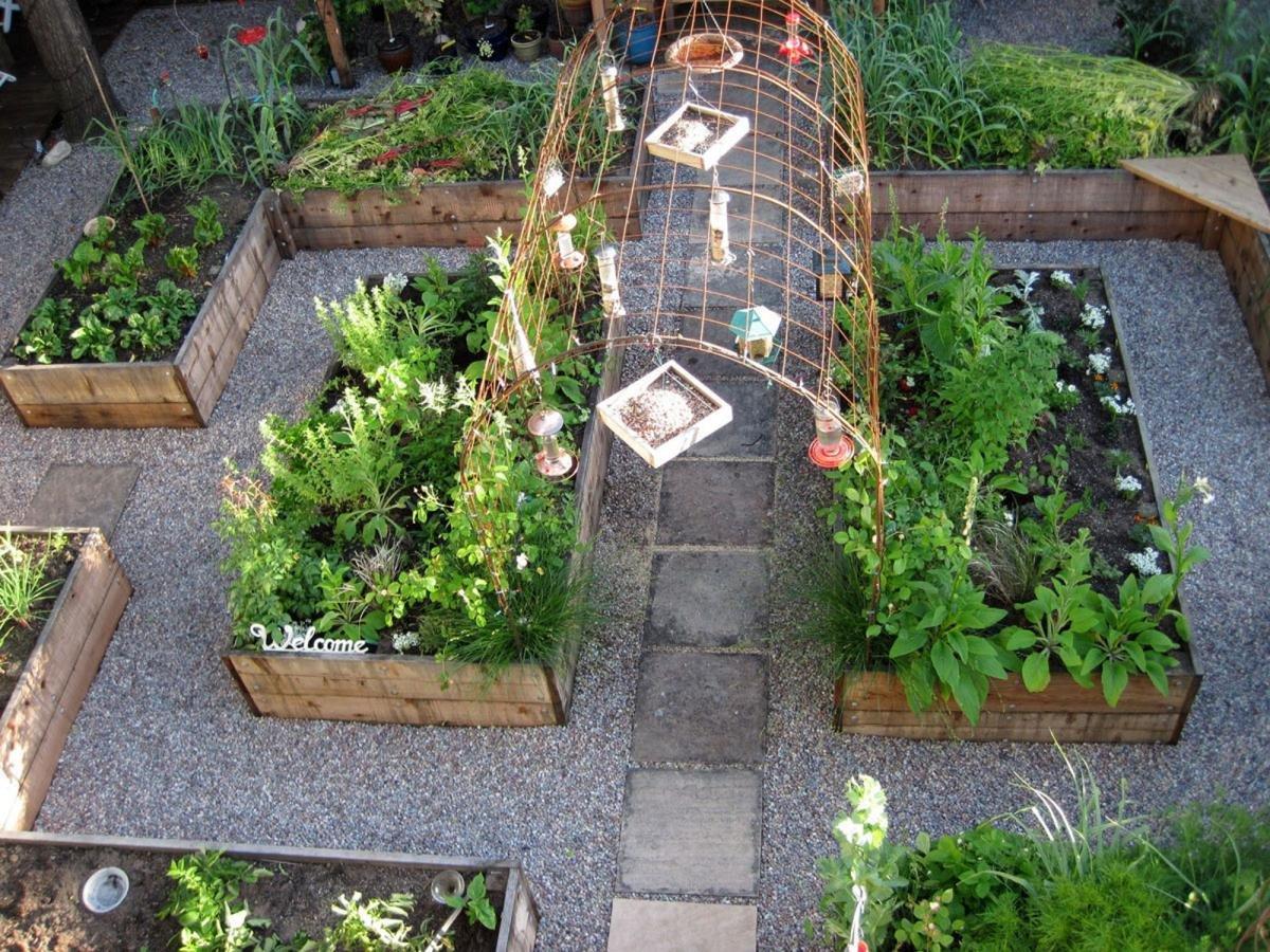 Дизайн садовых грядок своими руками