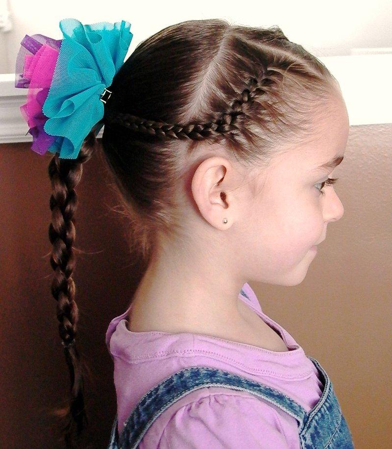 Детская причёска на 1 сентября