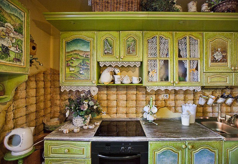 Декупаж кухонный гарнитур своими руками фото 390
