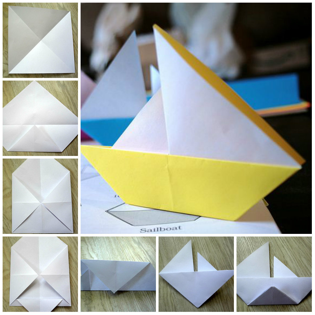 Как сделать лёгкий кораблик из бумаги 11