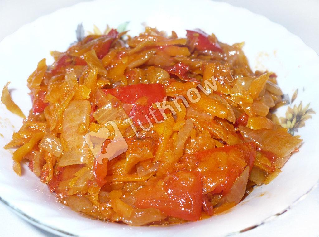 Салат на зиму помидор перец морковь лук