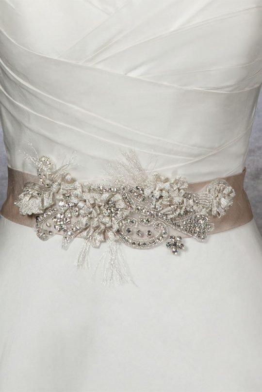 Пояса для свадебного платья своими руками 785