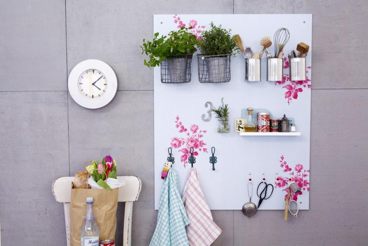 Идеи декорирования стен на кухне своими руками 70