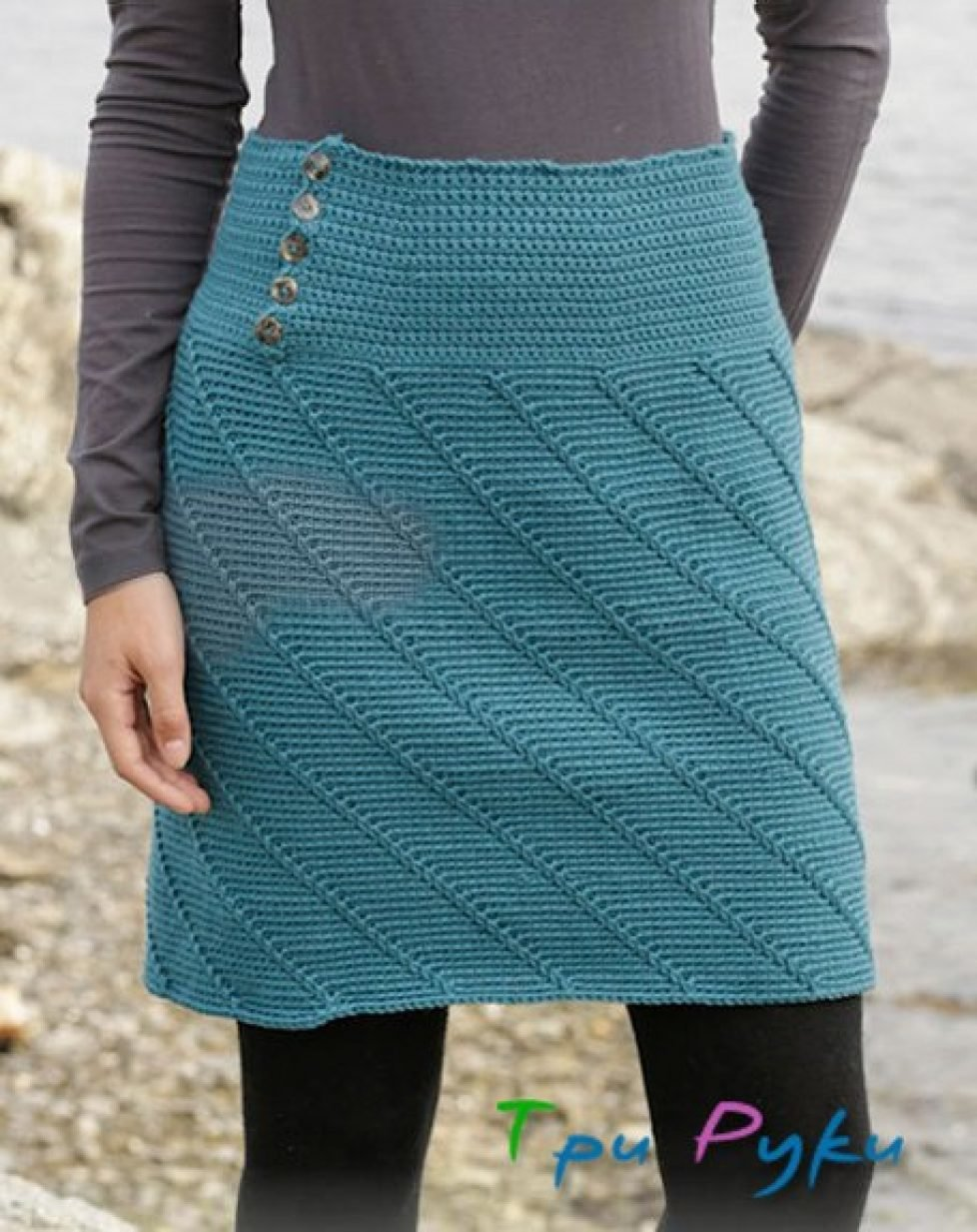 Вязание юбки по спирали