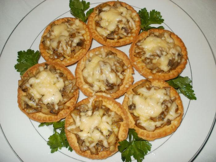 Тарталетки с грибной начинкой на праздничный стол рецепты 18