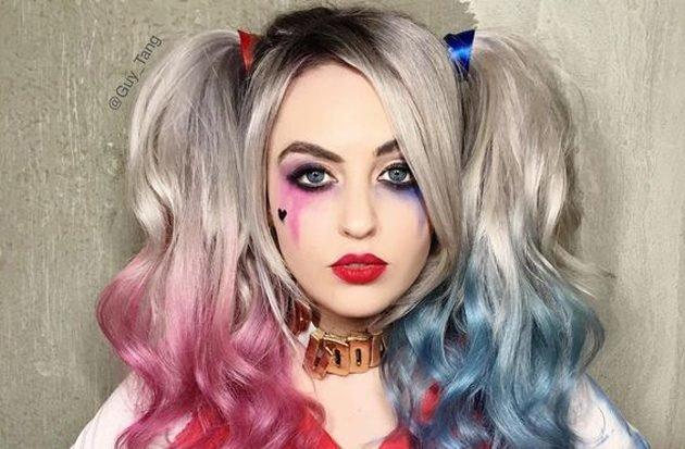 Фото макияж на хэллоуин харли квинн