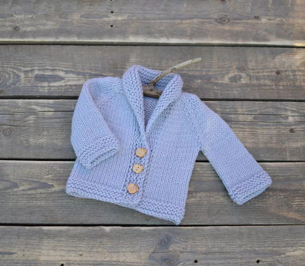 Вязания спицами кофт для новорожденного