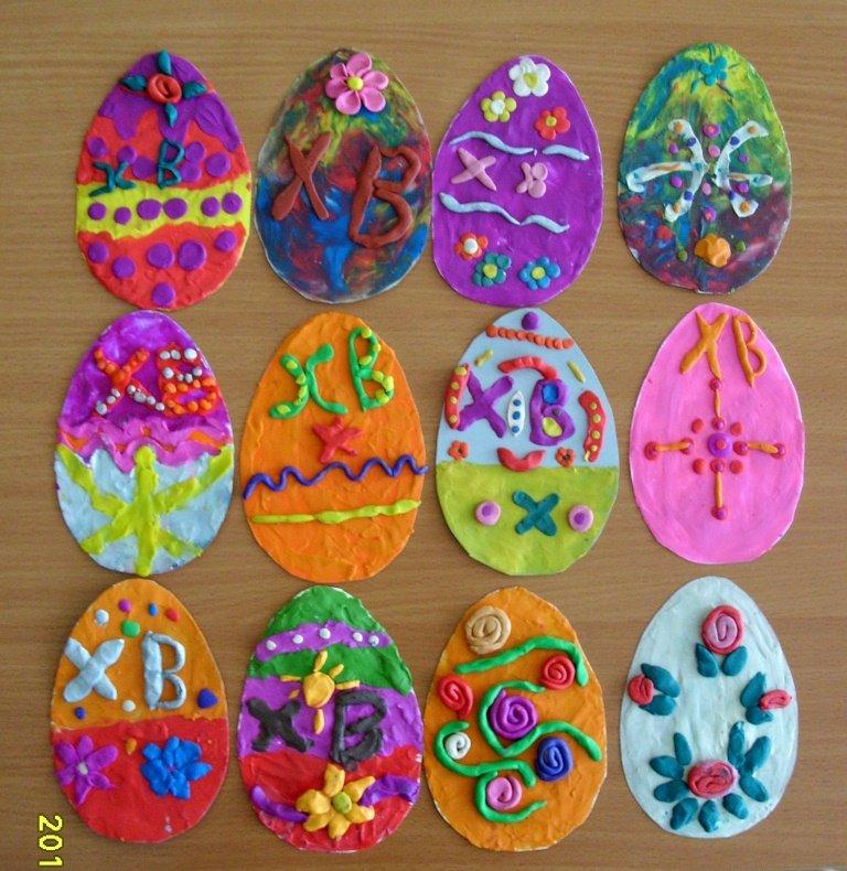 Поделки пасхальные яйца своими руками в детском саду 19