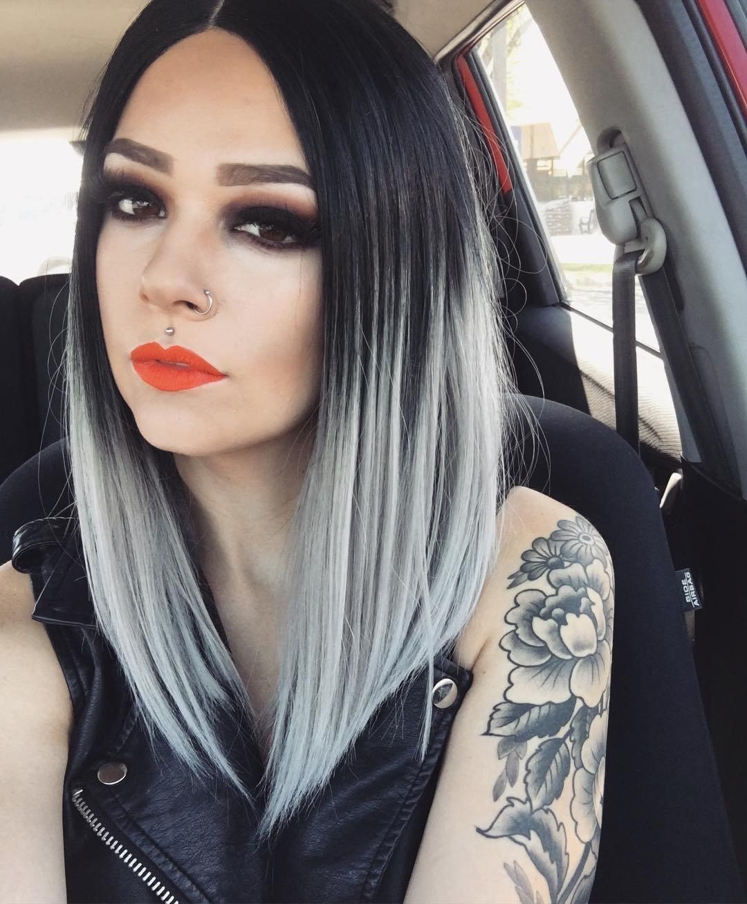 Черно серый цвет волос как сделать
