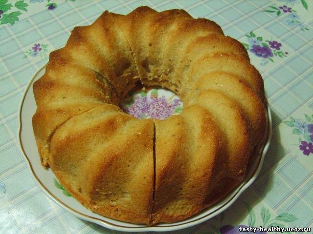 Творожно-банановый кекс без муки
