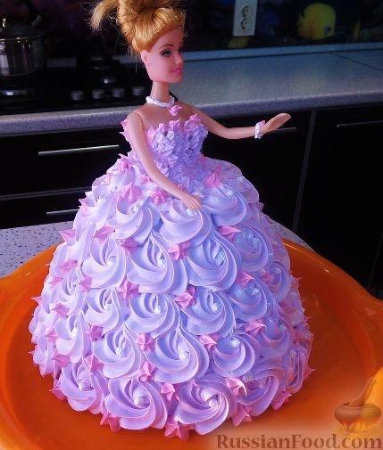 Торт принцесса с куклой своими руками пошаговый рецепт 70