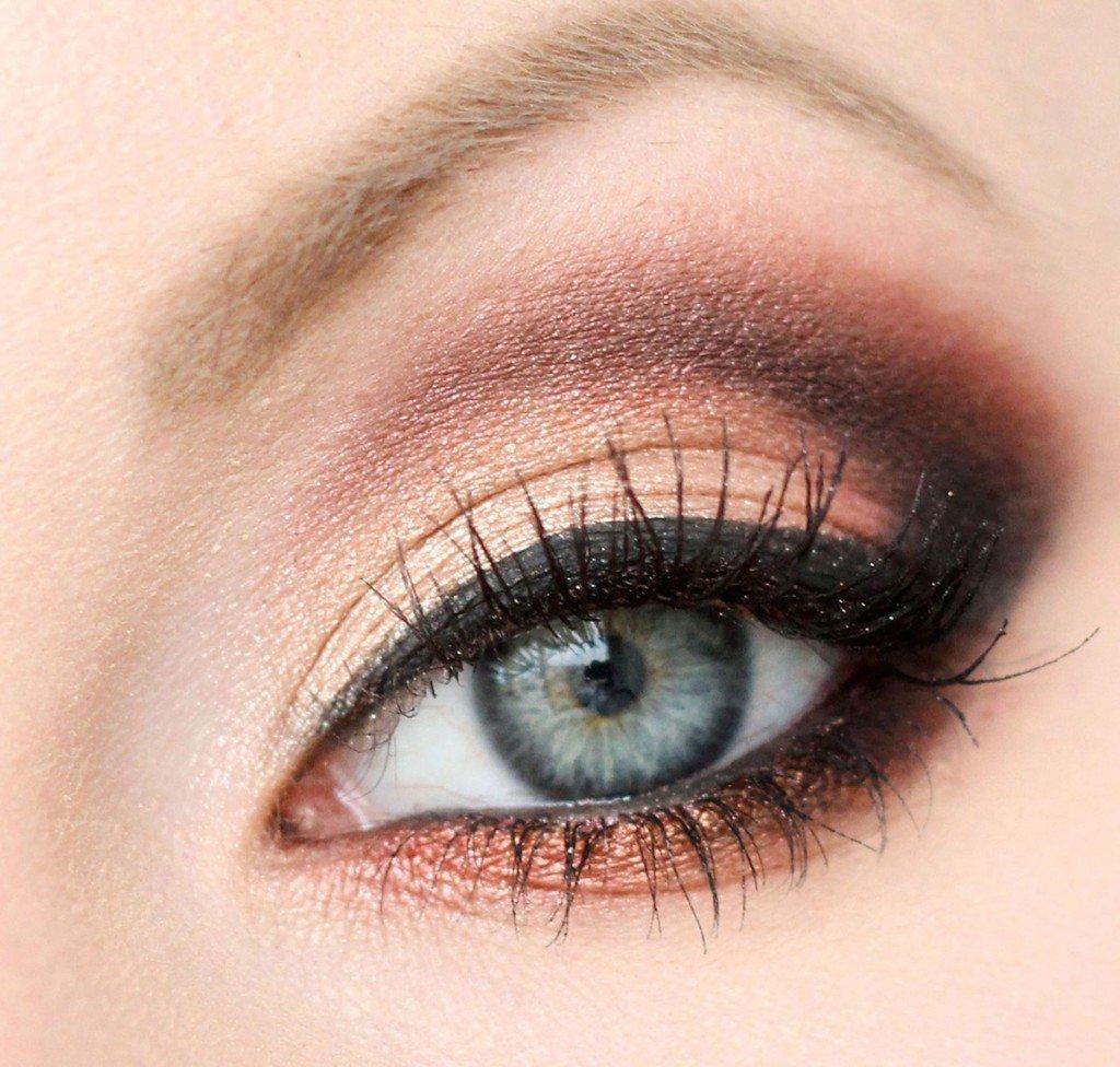 Фото макияжа для голубых-серо глазах