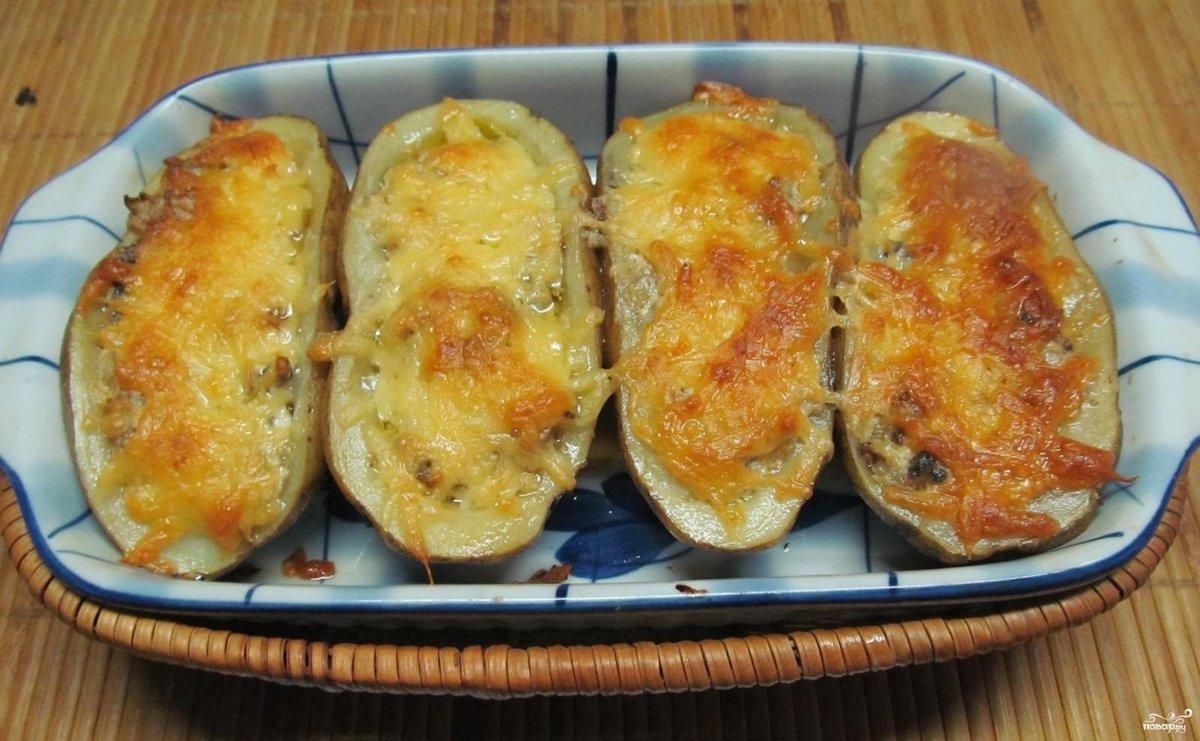 Рецепты картошка фаршированная фаршем пошагово