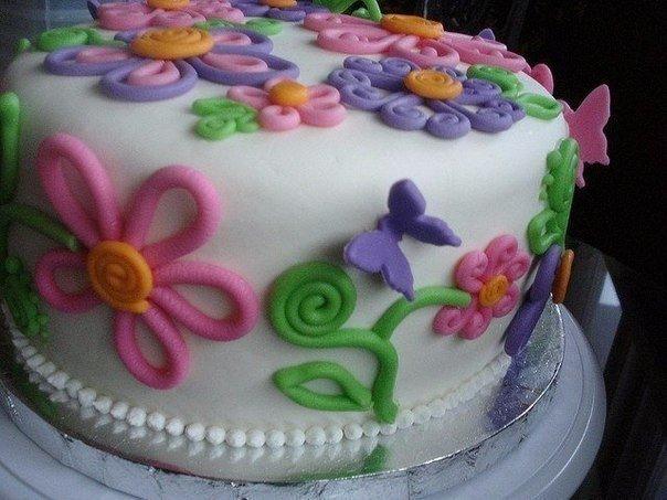 Простой рецепт торта с мастикой в домашних условиях с фото пошагово