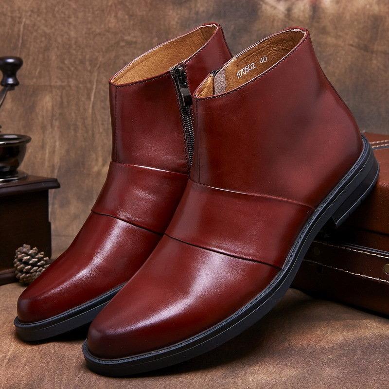 Мужскую кожаную зимнюю обувь в интернет магазине