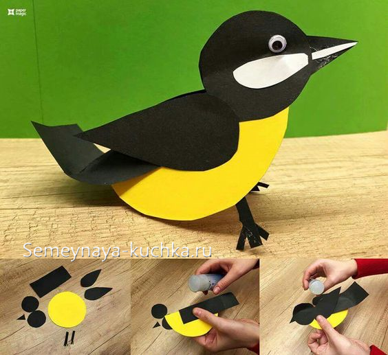 Объемные птички из картона своими руками 9