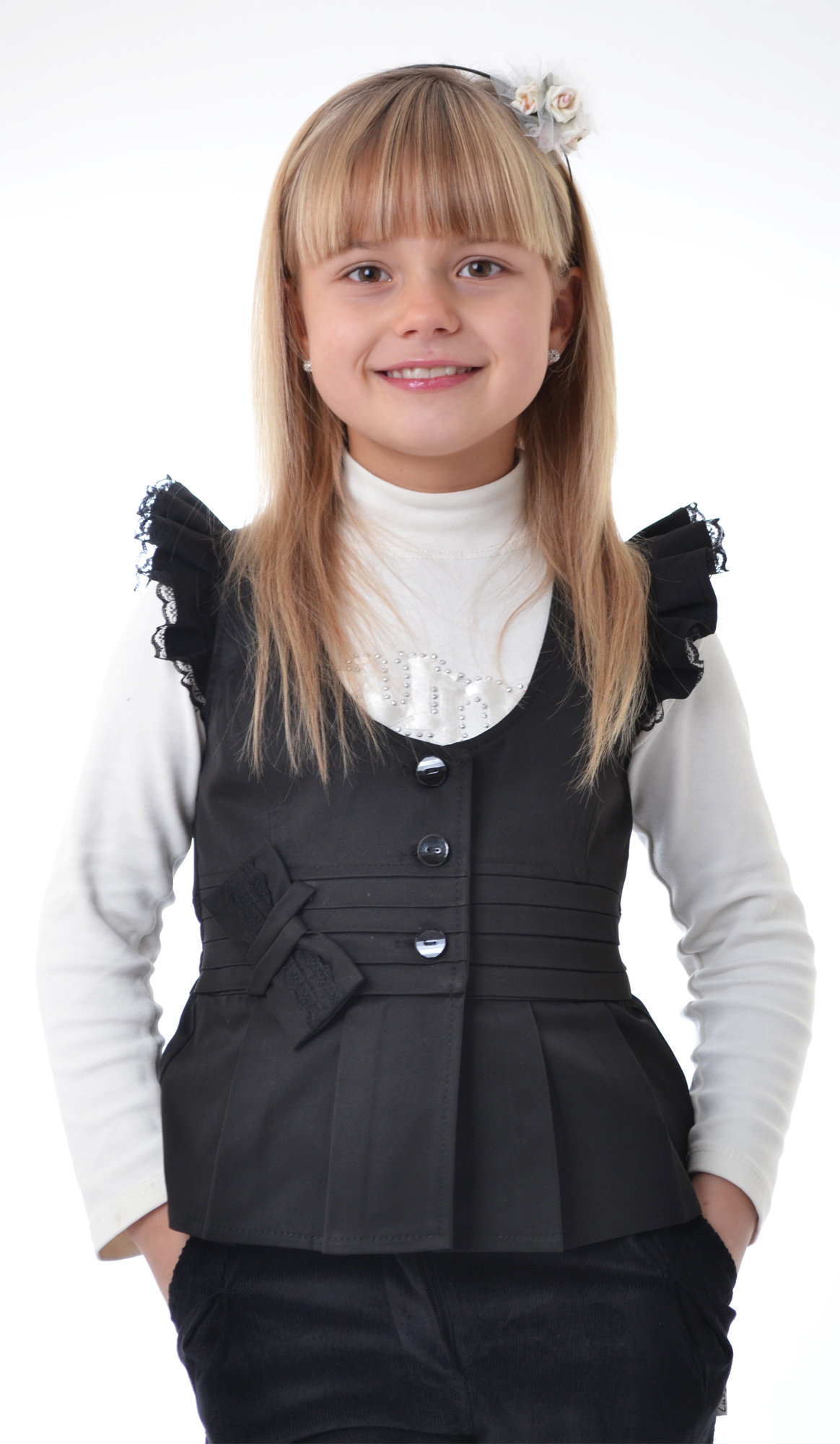 Выкройка жилета для девочки от Анастасии Корфиати 7