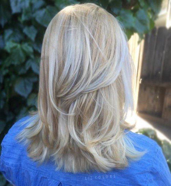Стрижка каскад на средний волос 2018