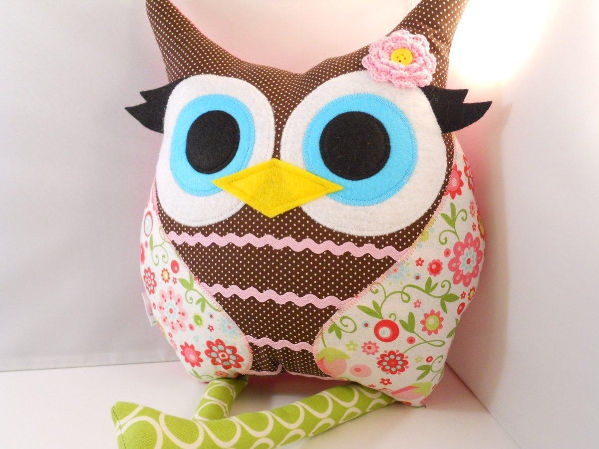 Сшить подушку с совой