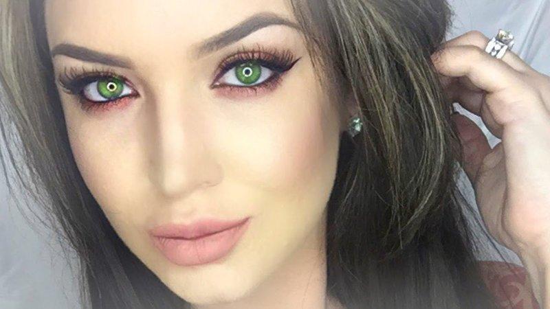 Серо каре зеленые глаза макияж