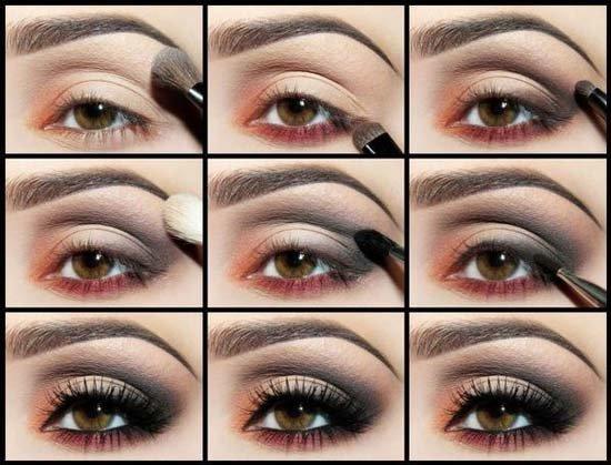 Вечерний макияж пошагово картинки 173