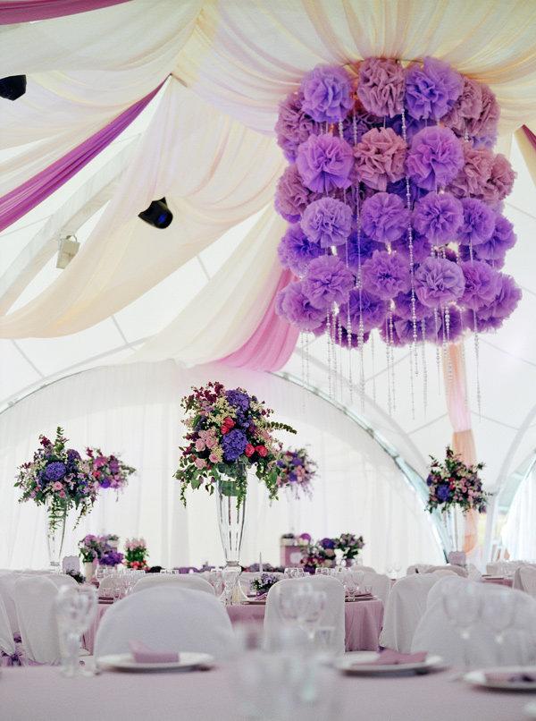 Декоры для фиолетовой свадьбы