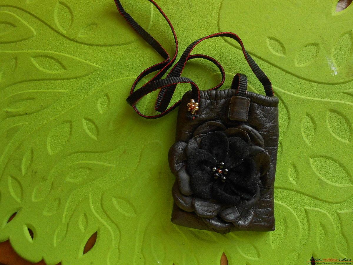 Мастер-класс по пошиву кожаного чехла для телефона (Iphone SE) 71